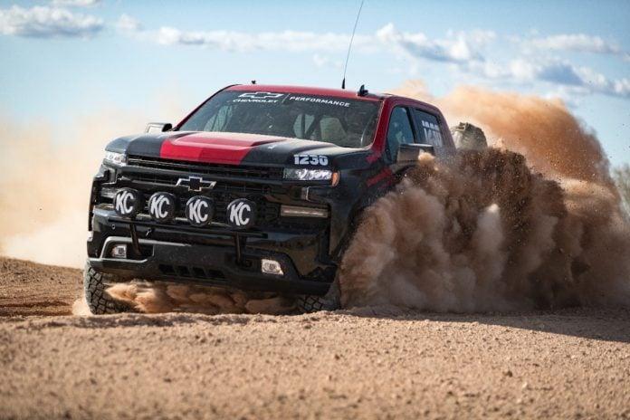 silverado race truck joins colorado ZR2 in desert racing