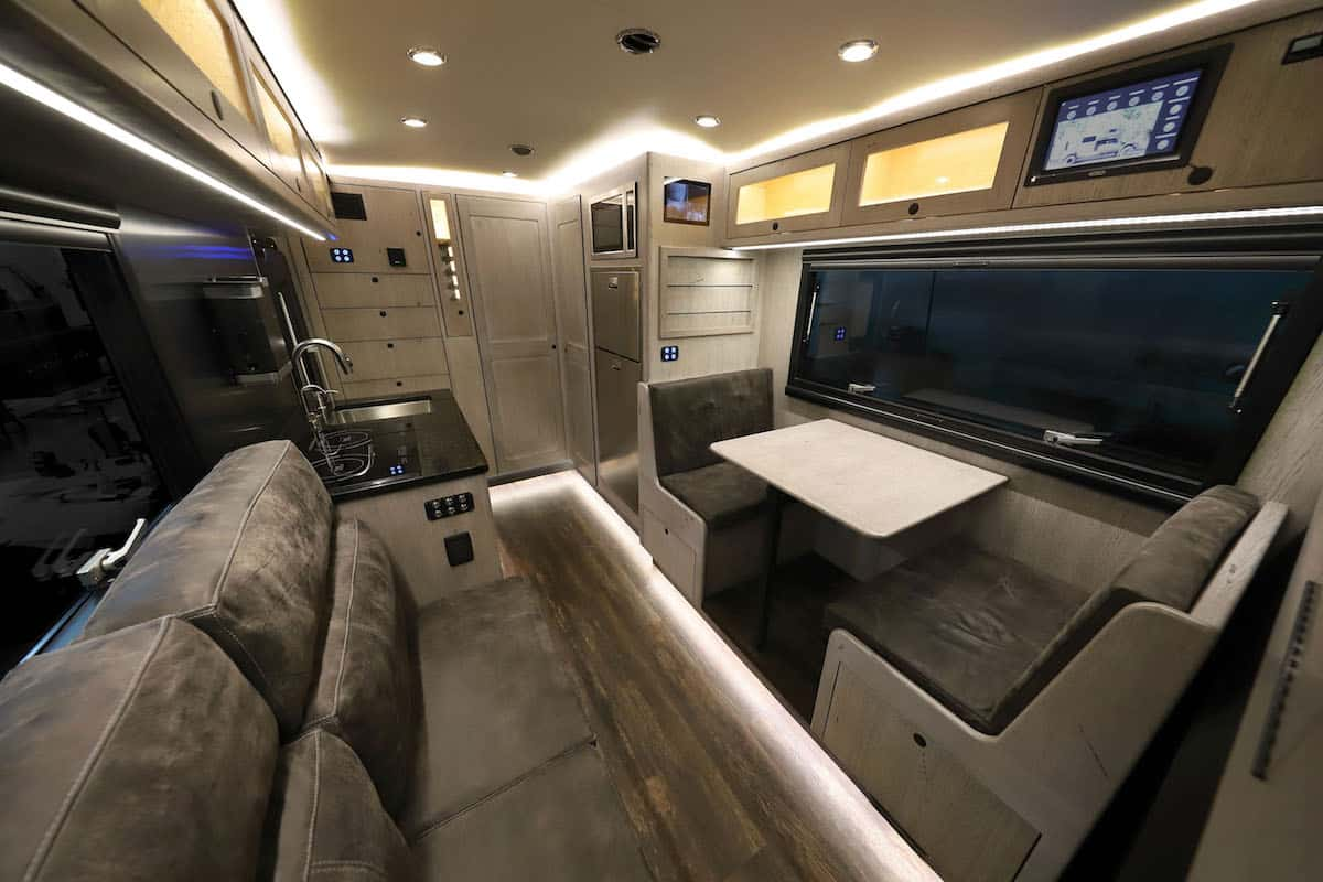 EarthRoamer LTi carbon fiber expedition vehicle interior 3