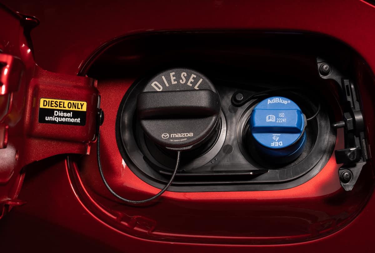 Mazda CX-5 Skyactiv-D Signature Review diesel fuel cap