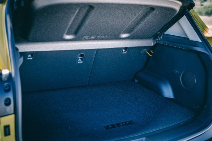 2021 Kia Seltos rear trunk cargo space
