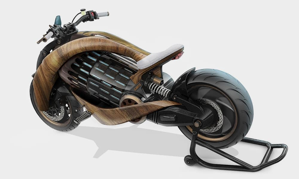 EV-1 Electric Cruiser Motorcycle by Newron Motors 3