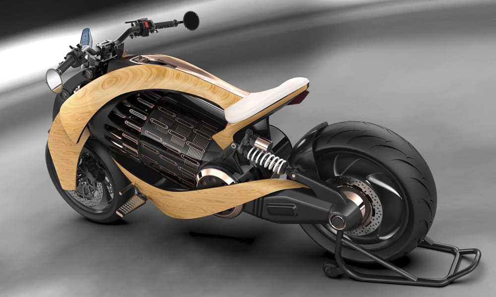 EV-1 Electric Cruiser Motorcycle by Newron Motors 6