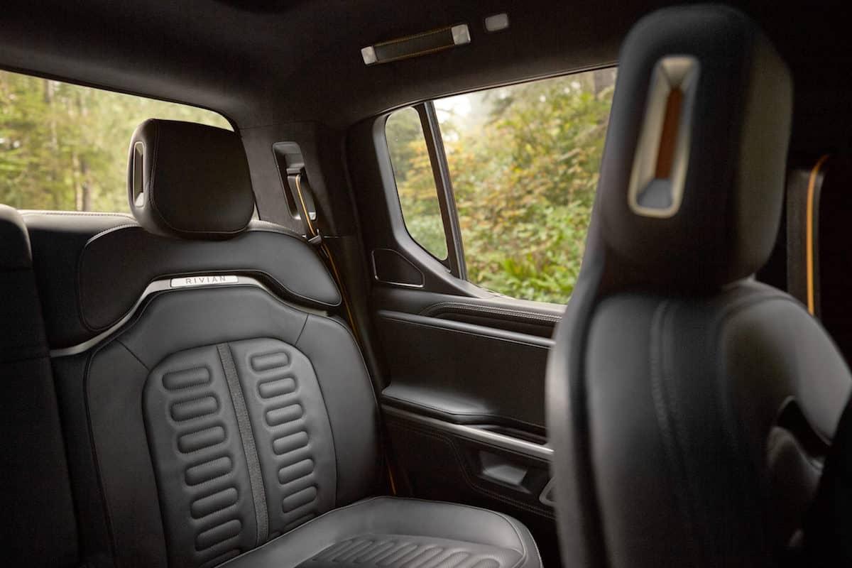 Rivian R1T Truck interior seats