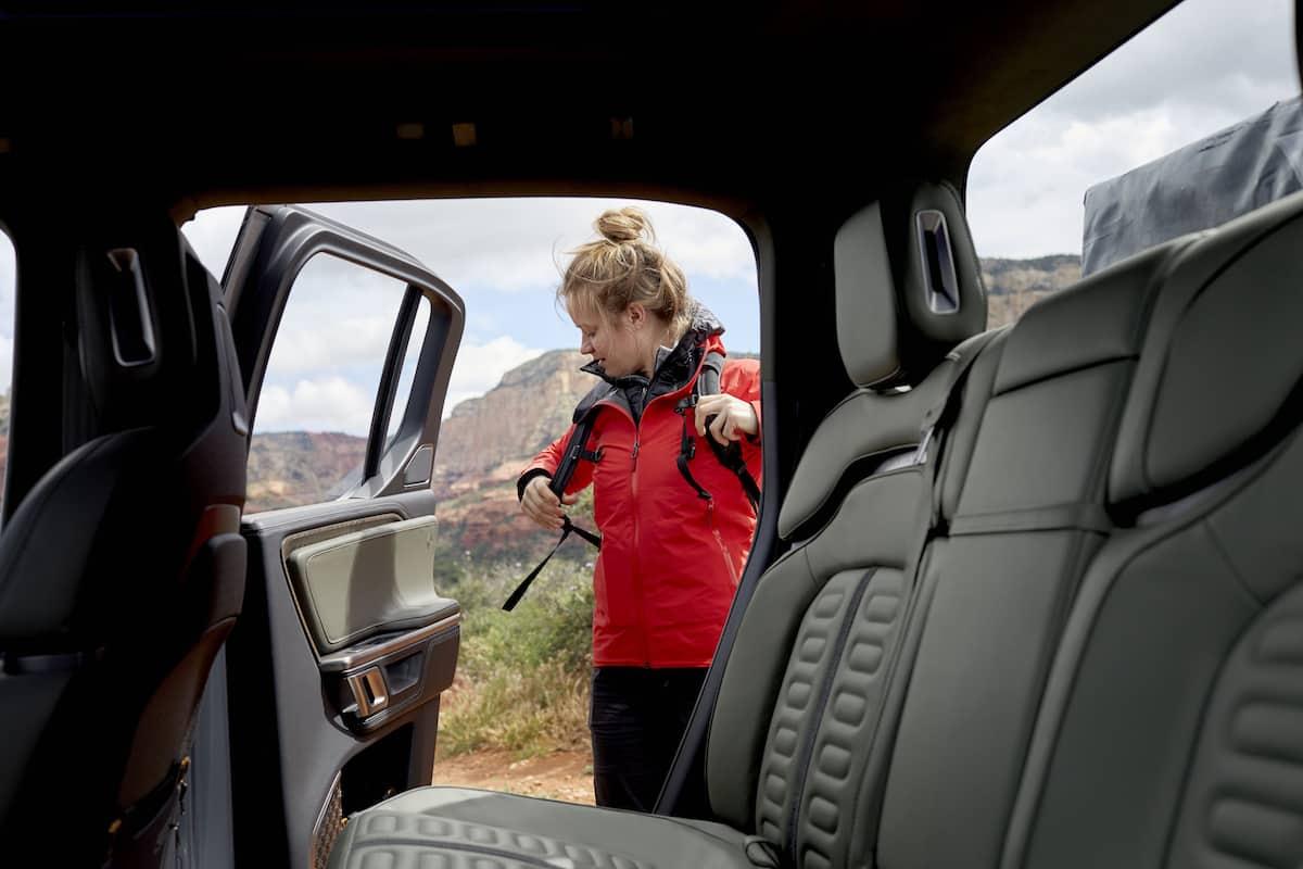 Rivian R1T Truck interior
