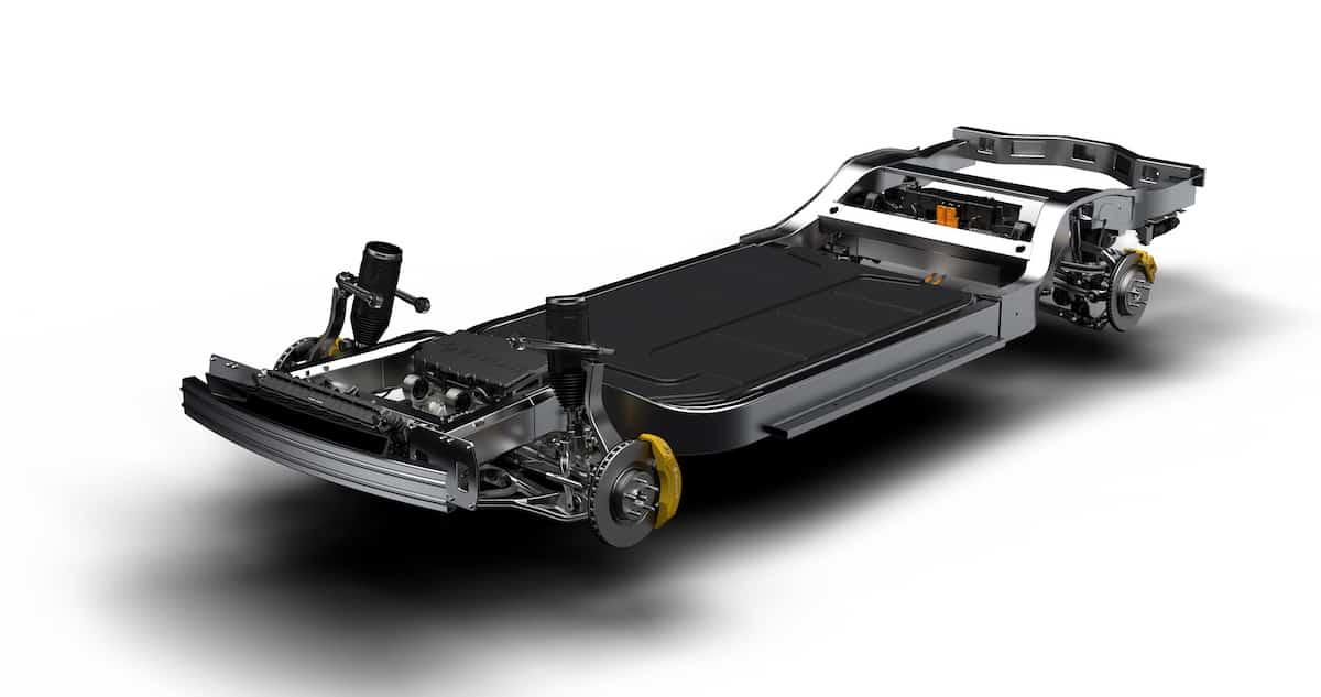 Rivian R1T Truck skateboard platform