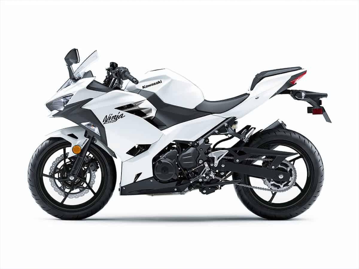 Kawasaki Ninja 400 white