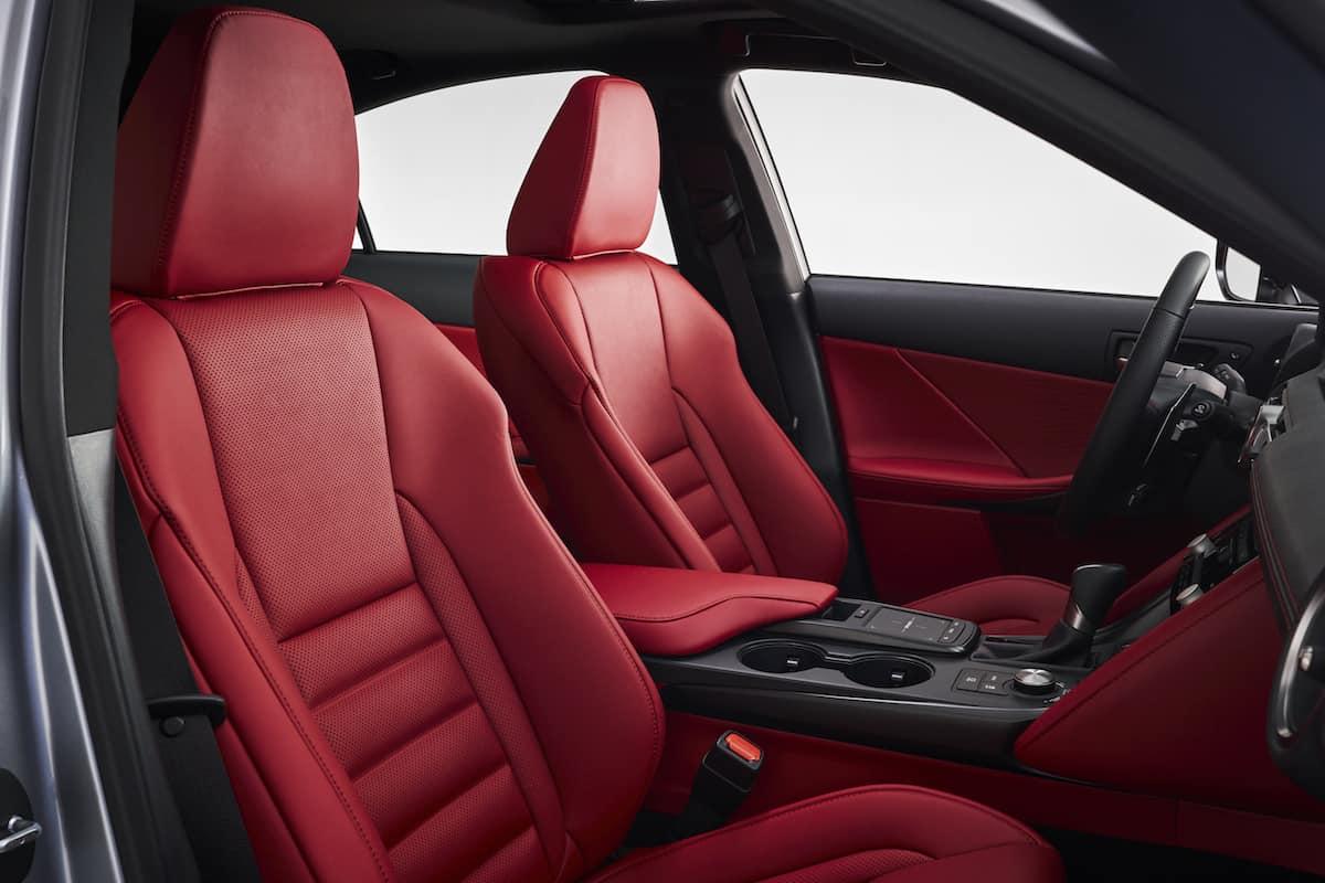 2021 Lexus IS F Sport front seats