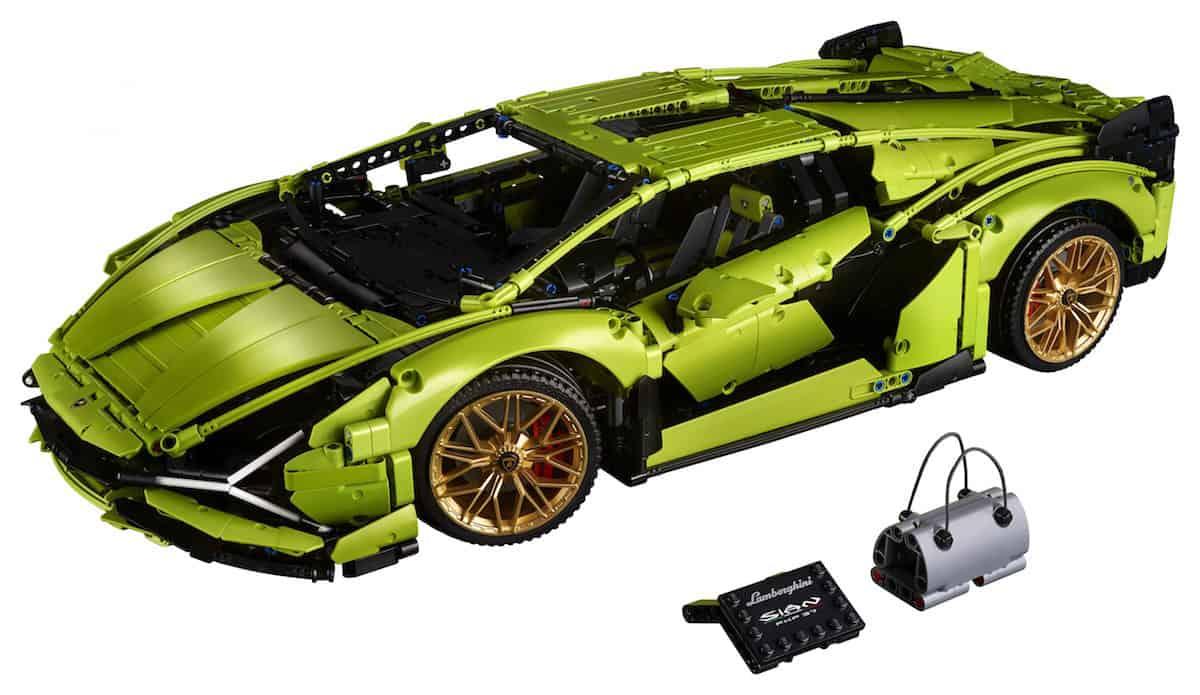 Lego Technic Lamborghini Sián FKP 37 front profile