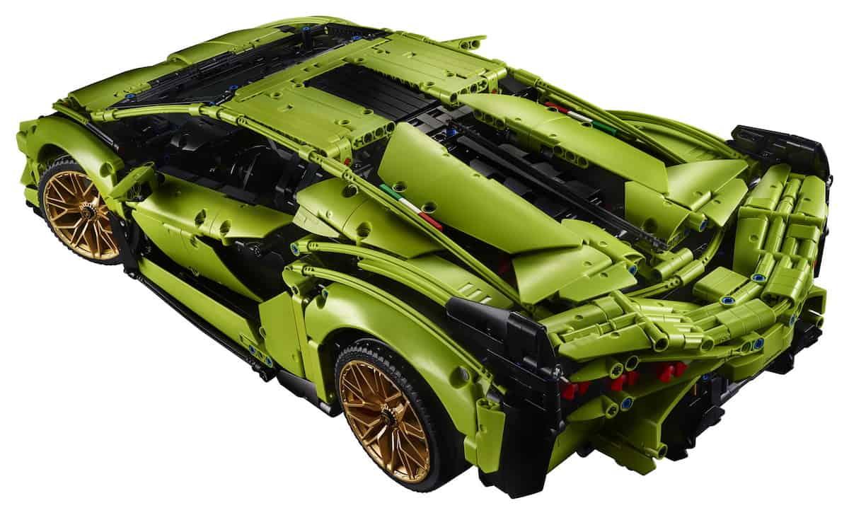Lego Technic Lamborghini Sián FKP 37 rear profile