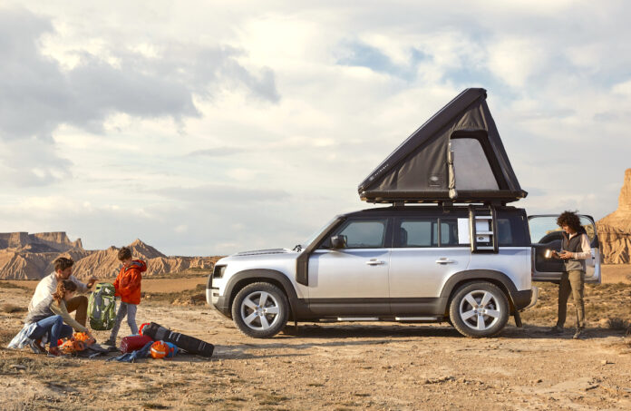 land rover defender 110 roof tent by autohome sideview