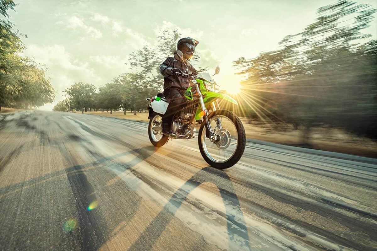 2020 Kawasaki KLX250 front riding