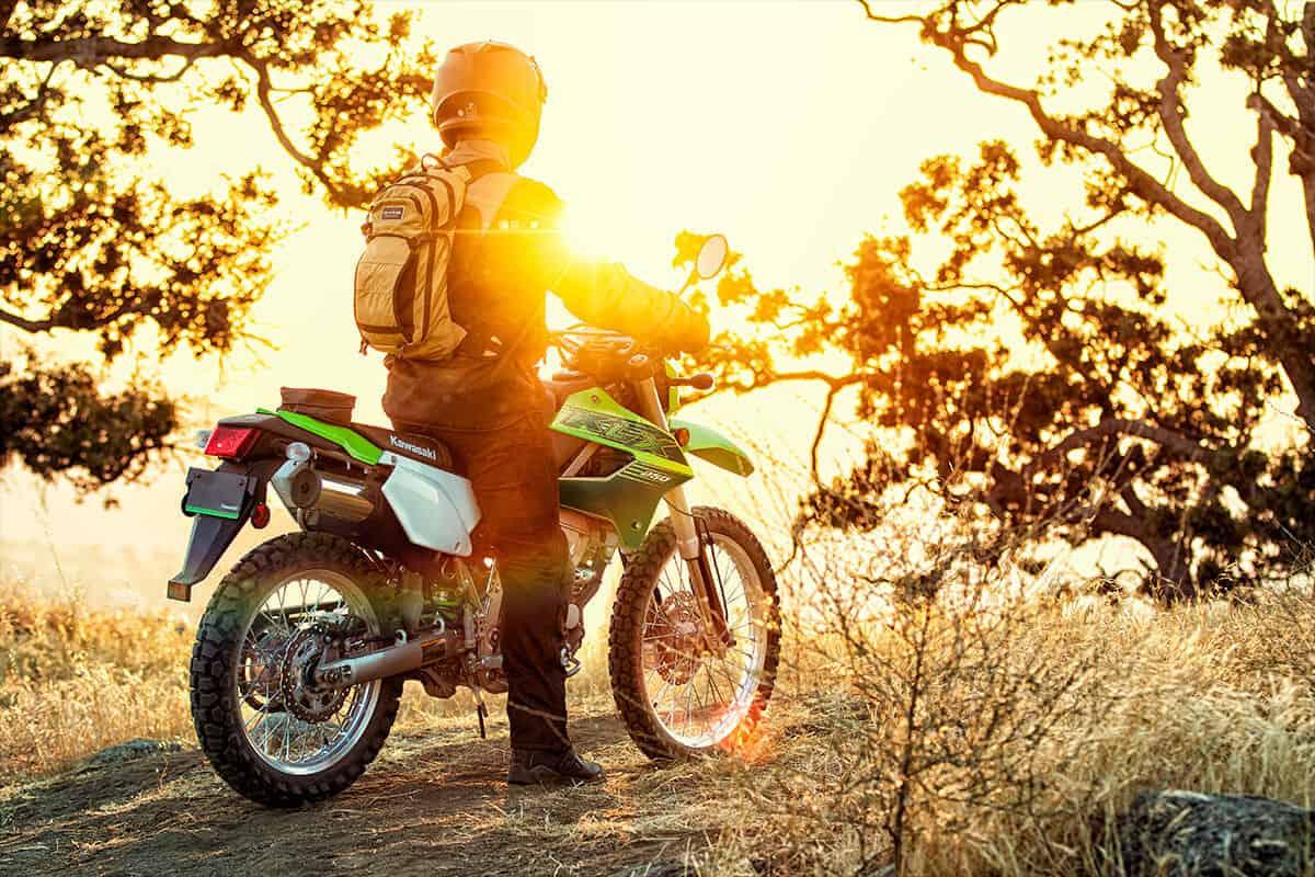 2020 Kawasaki KLX250 rear lifestyle