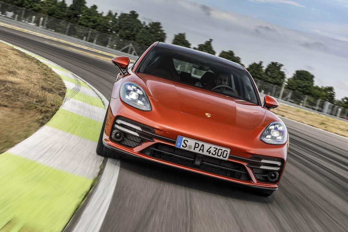 2021 Porsche Panamera Turbo S front driving