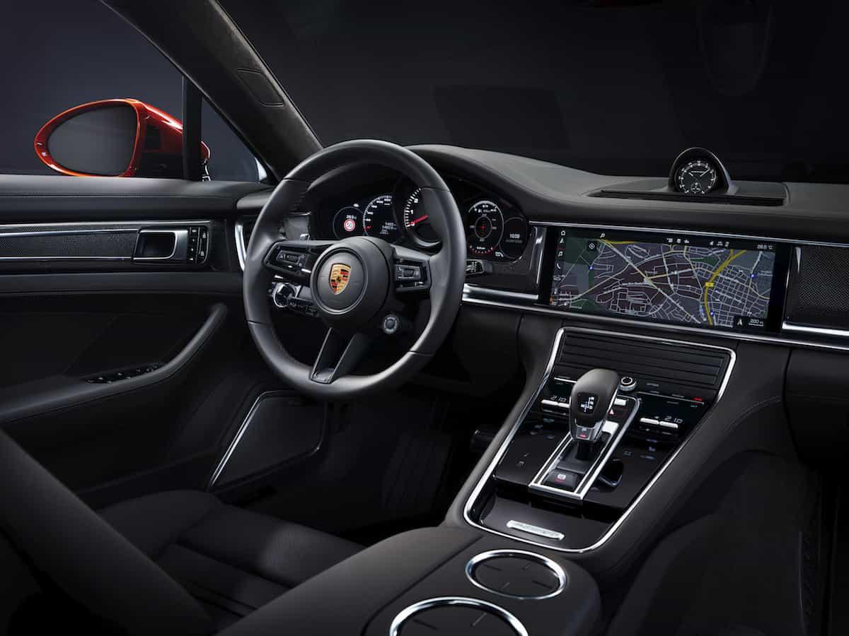 2021 Porsche Panamera Turbo S interior black