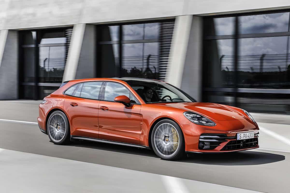 2021 Porsche Panamera Turbo S profile driving