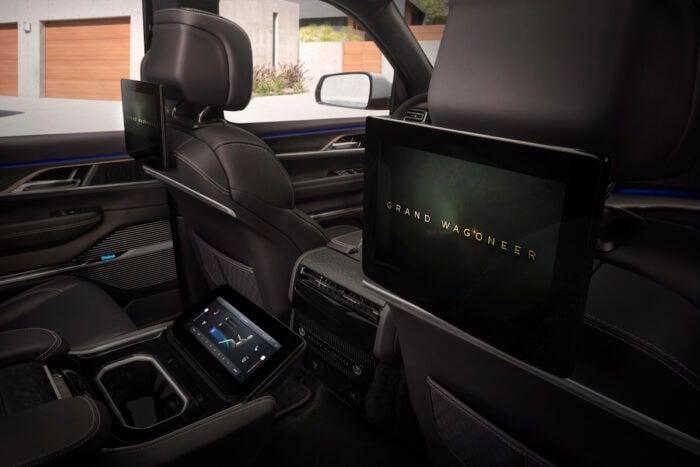 Grand Wagoneer Concept interior screen rear