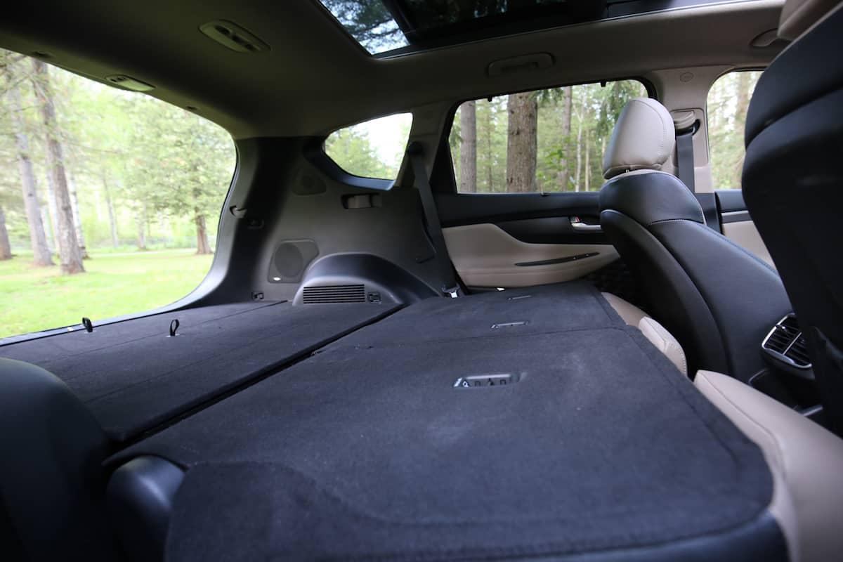 2020 Hyundai Santa Fe compact SUV all seats down space
