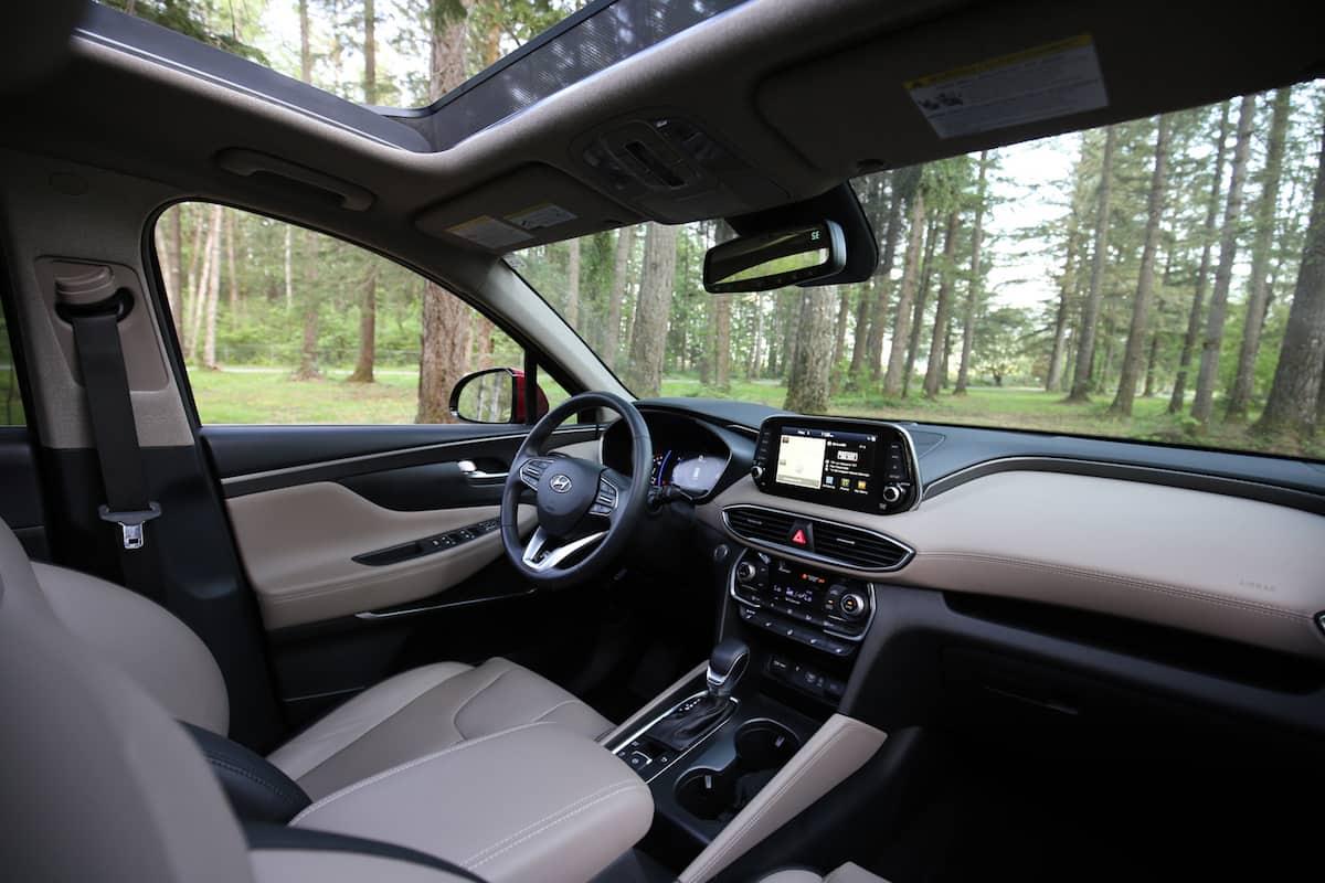 2020 Hyundai Santa Fe compact SUV front cabin