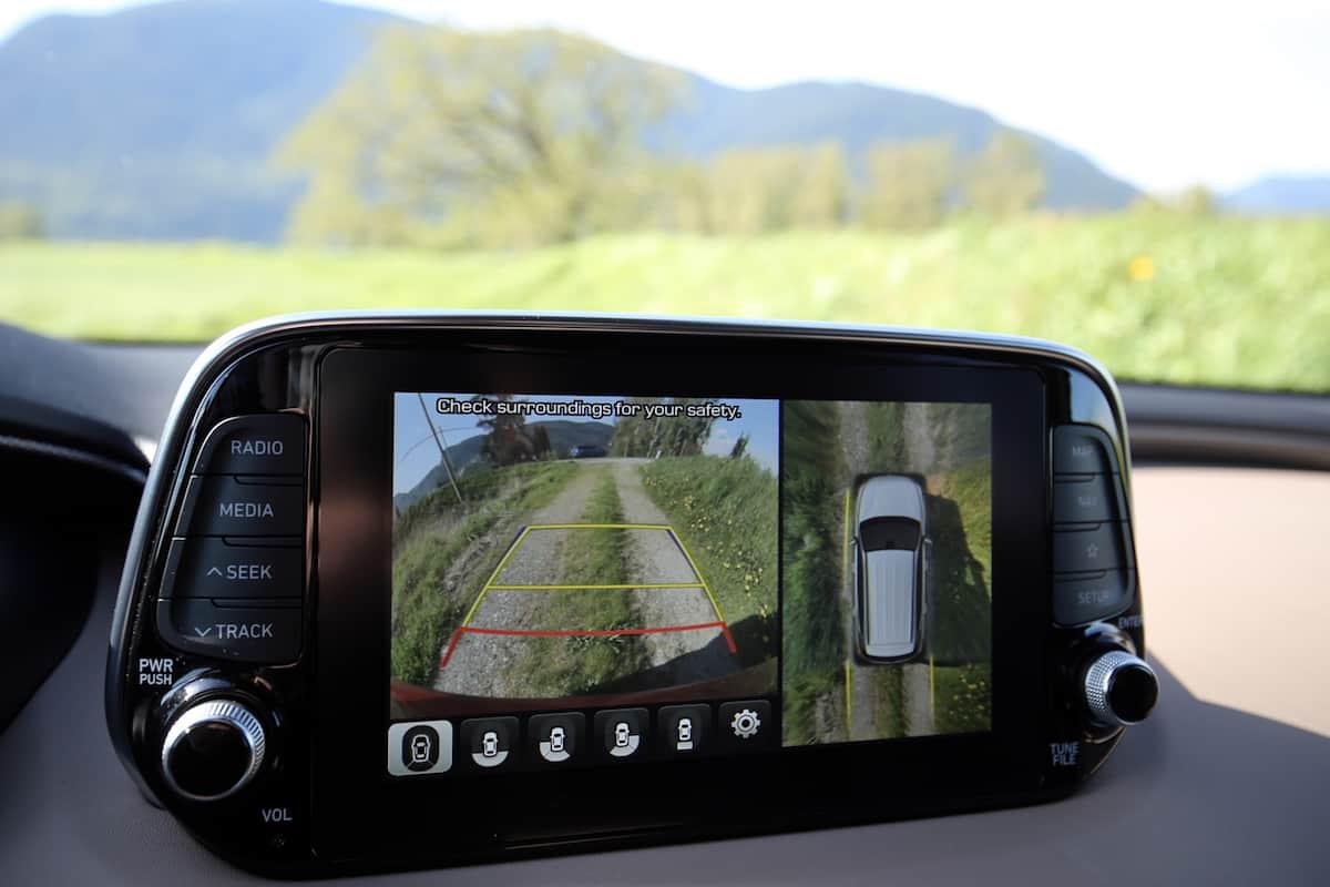 2020 Hyundai Santa Fe compact SUV front touchscreen