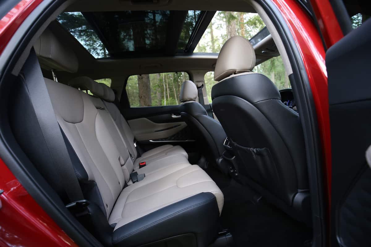 2020 Hyundai Santa Fe compact SUV rear seats