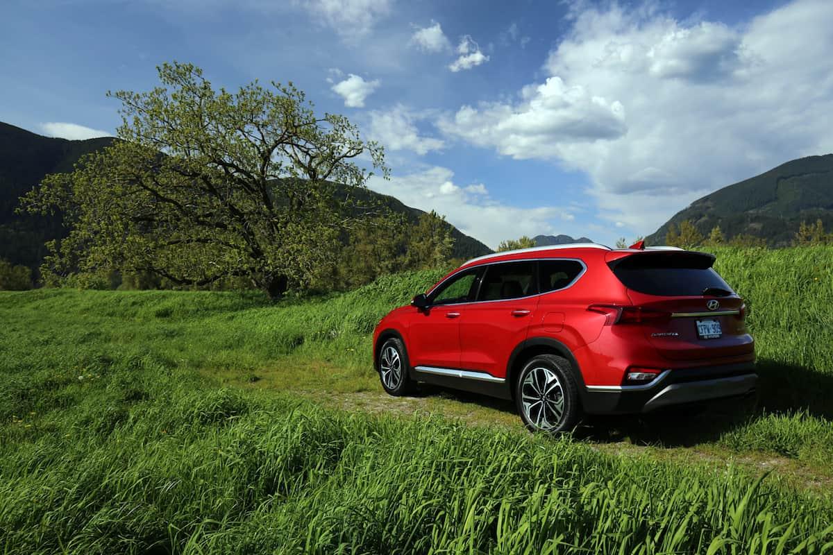 2020 Hyundai Santa Fe compact SUV rear view profile
