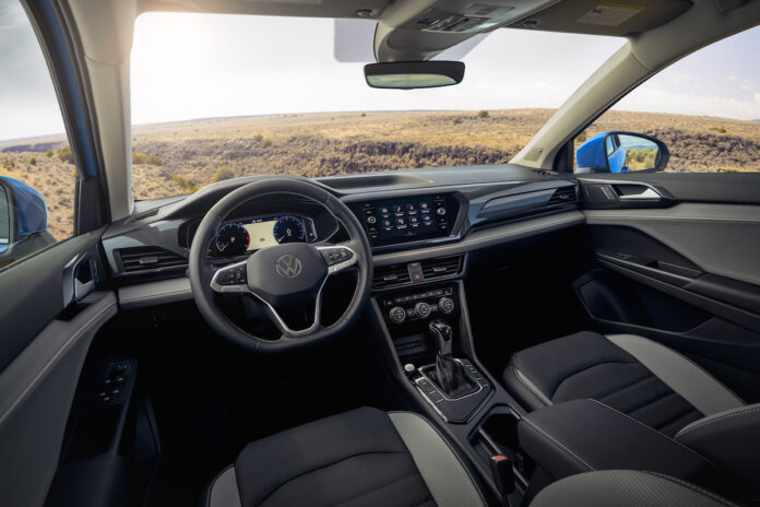 2022 VW Taos compact SUV interior review