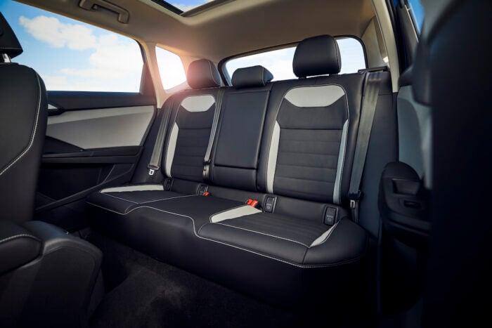 2022 VW Taos compact SUV interior space rear seats