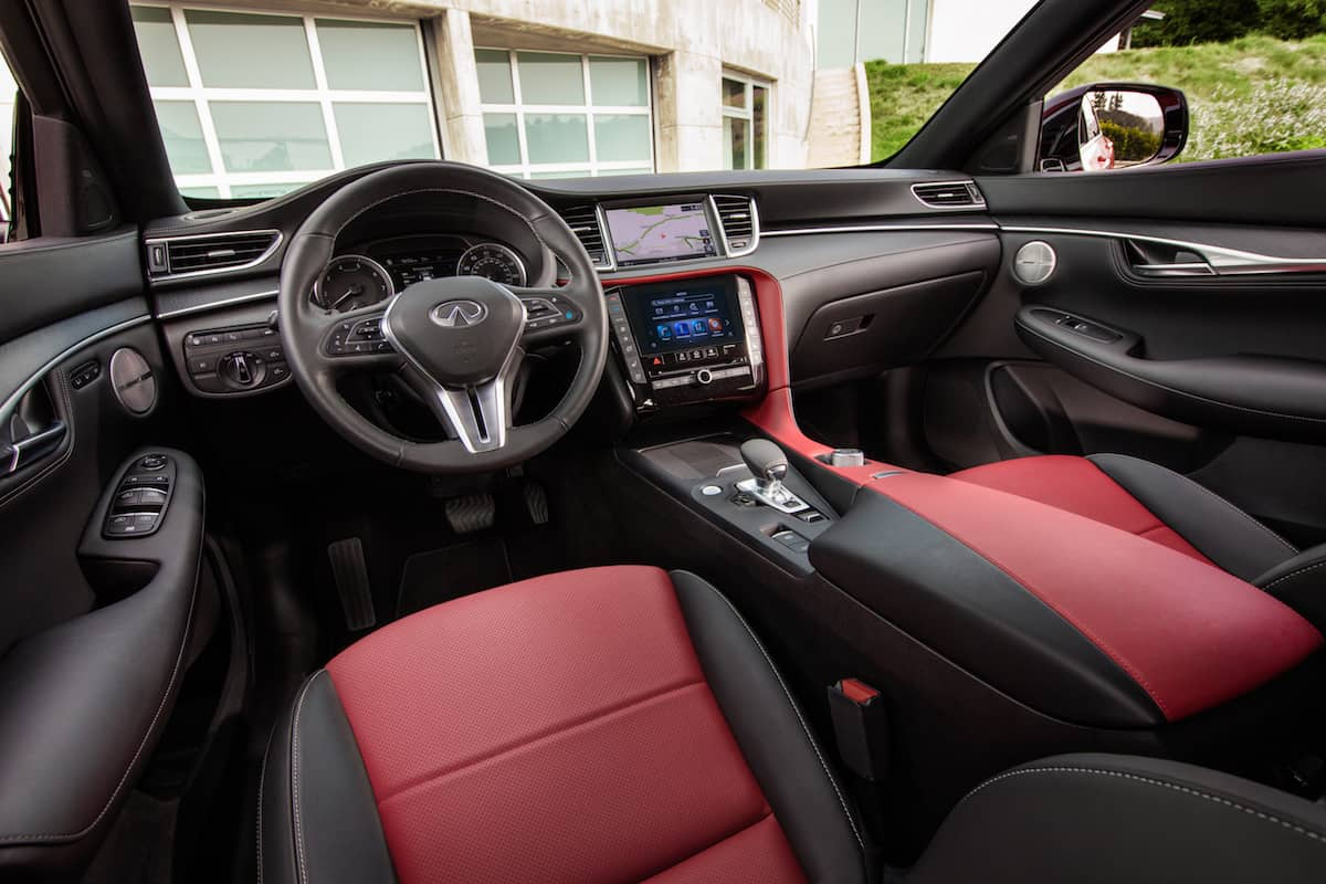2021 Infiniti QX55 coupe SUV interior3