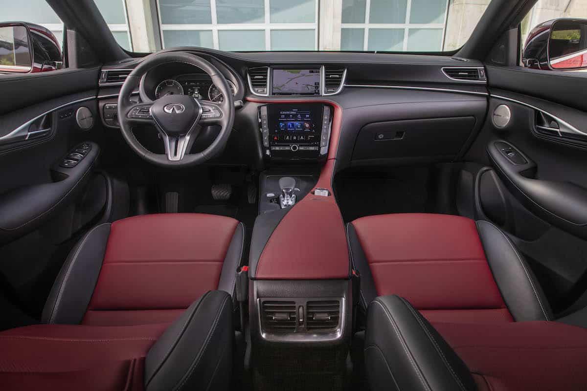 2021 Infiniti QX55 coupe SUV interior