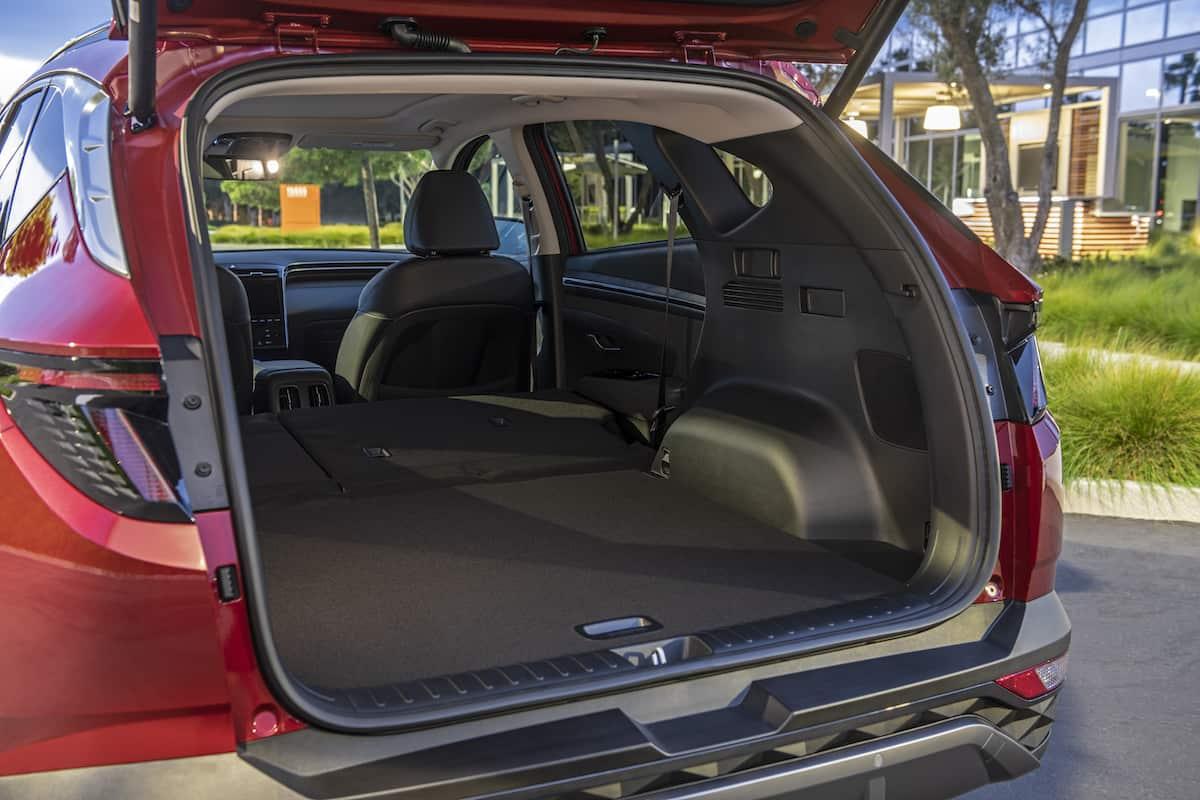 2022 Hyundai Tucson rear cargo seats down