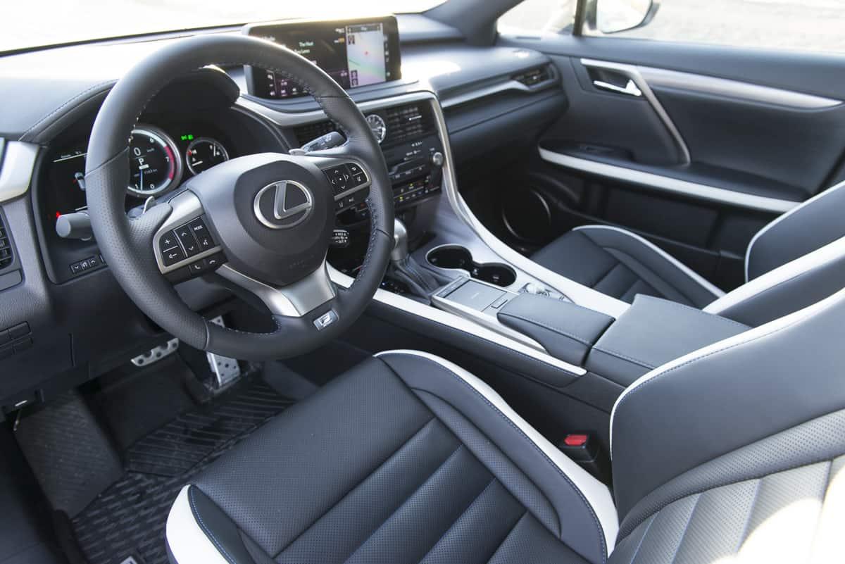2021 Lexus RX 350 Black Line interior