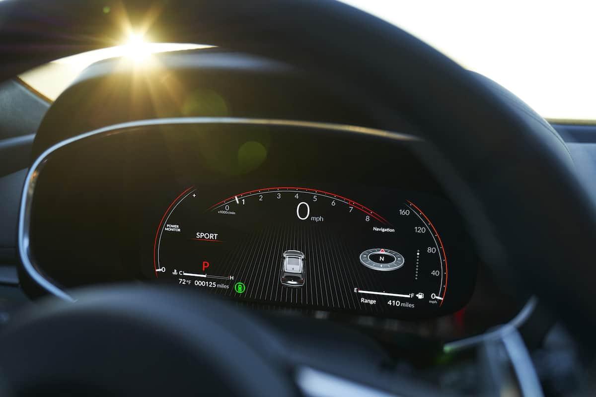 2022 MDX SH-AWD A-Spec gauge detail interior static