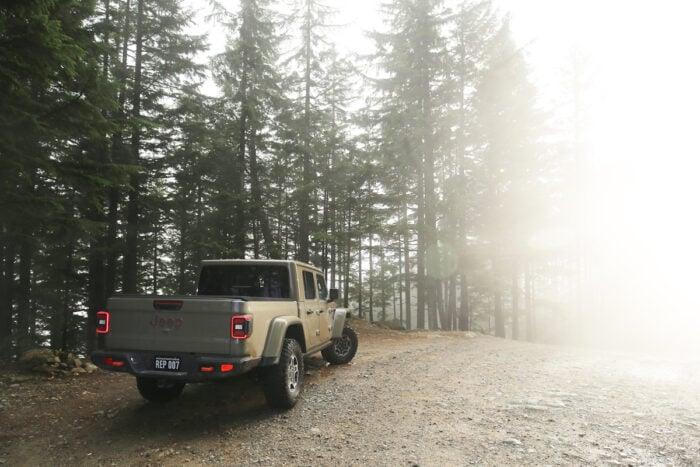 2021 Jeep Gladiator Mojave rear view