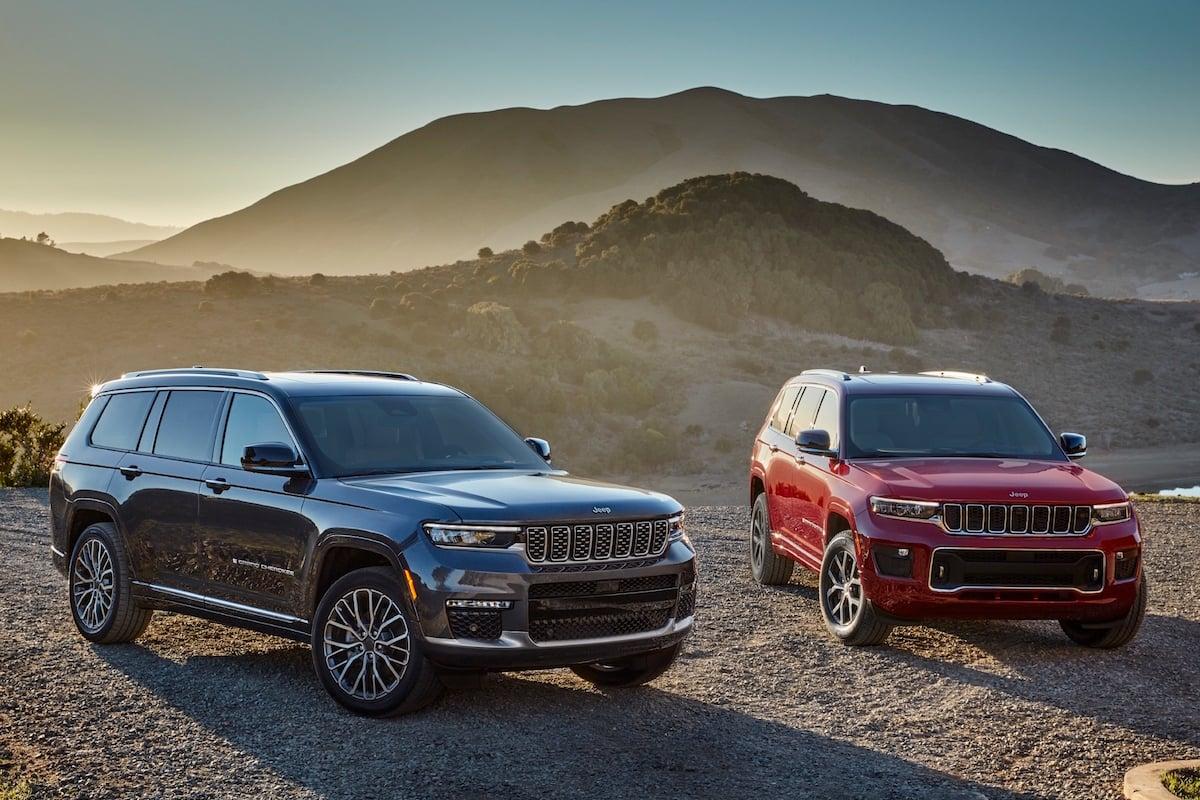 All-new 2021 Jeep® Grand Cherokee L Summit Reserve (left) and All-new 2021 Jeep® Grand Cherokee L Overland (right)