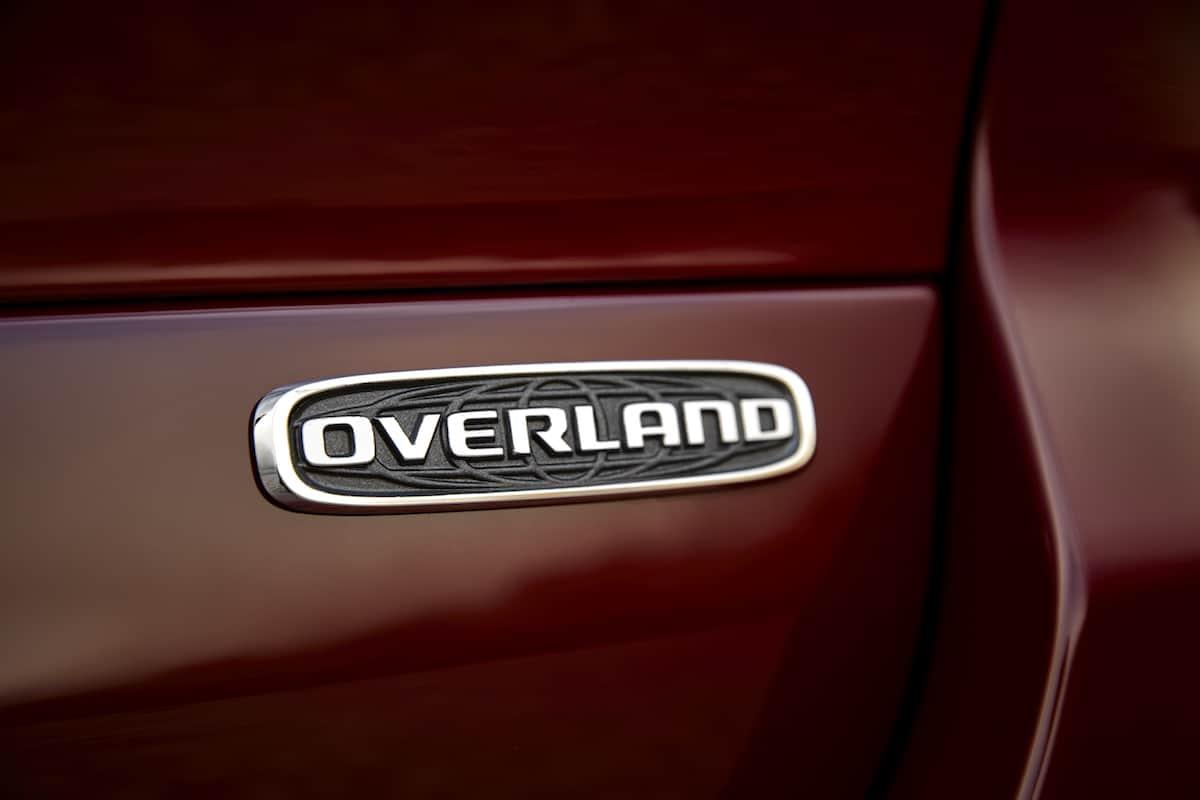 All-new 2021 Jeep® Grand Cherokee L Overlandexterior Overland badge.