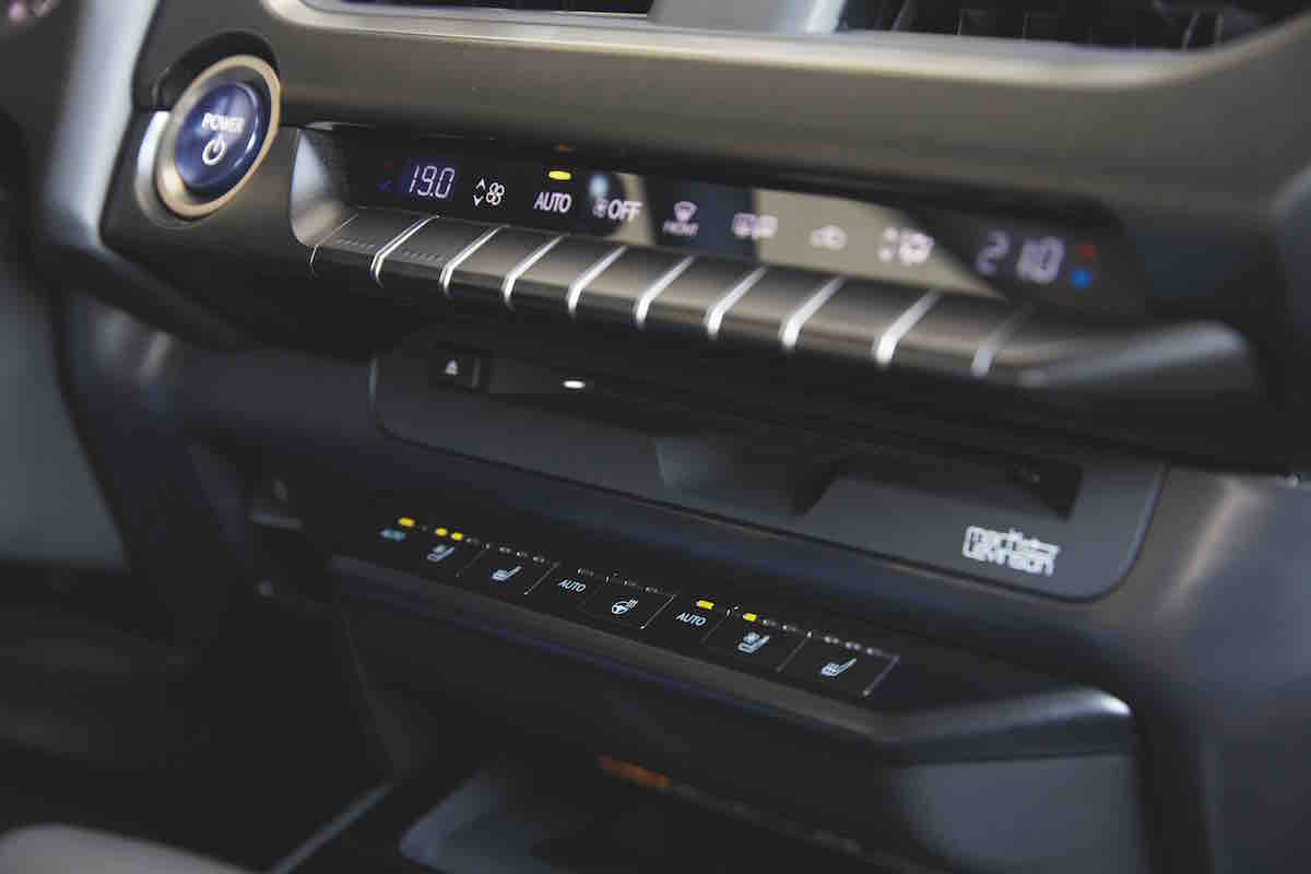 2021 Lexus UX controls front cabin