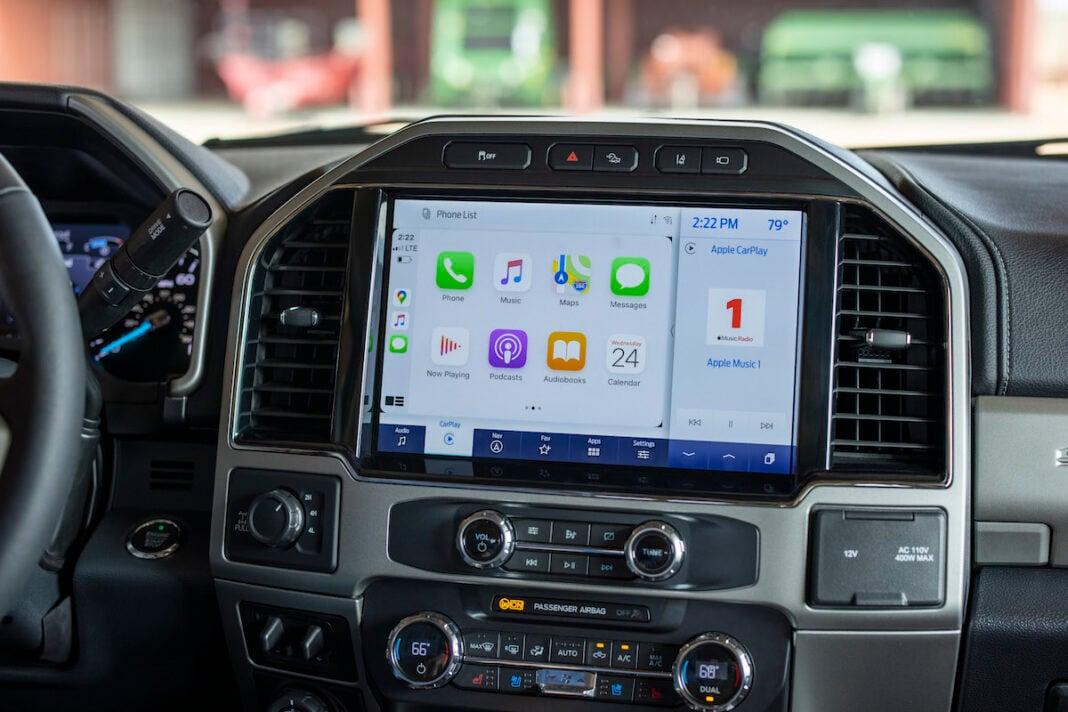 2022 Ford Super Duty 12 inch screen Sync 4