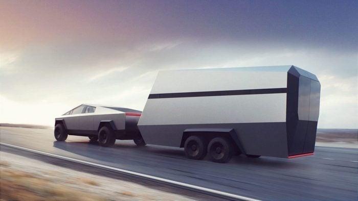 Tesla-Cybertruck-towing-Camper